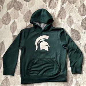 Michigan State Nike Hoodie Kids Green